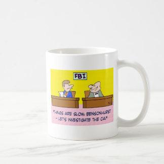 fbi investigate cia spies classic white coffee mug