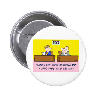 fbi investigate cia spies pinback button