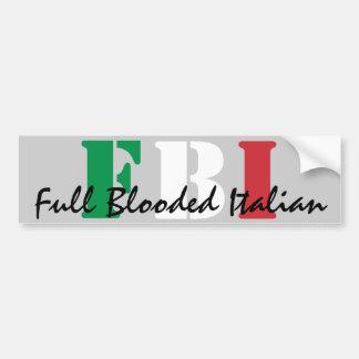 FBI, italiano completo de Blooded Pegatina Para Auto