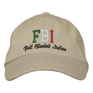 ¡FBI, italiano completo de Blooded! Gorro Bordado
