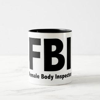 FBI Mr Funny Rude Humor Two-Tone Coffee Mug