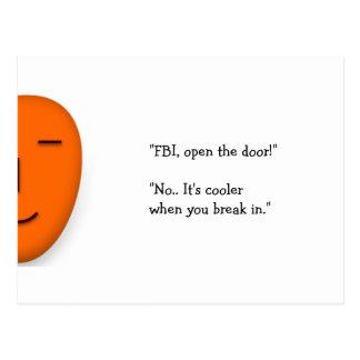 FBI Open The Door..   Funny Joke Send a Smile Card