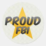Fbi orgulloso pegatinas redondas