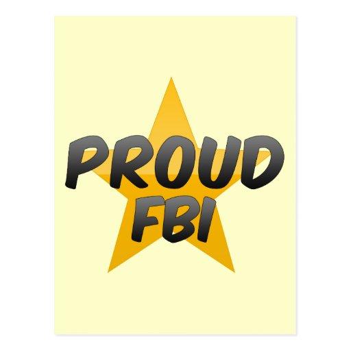 Fbi orgulloso tarjetas postales