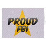 Fbi orgulloso tarjetón