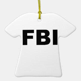 FBI Double-Sided T-Shirt CERAMIC CHRISTMAS ORNAMENT