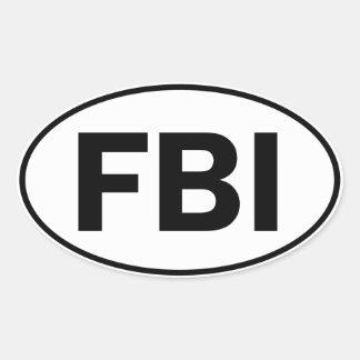 FBI Oval Identity Sign Oval Sticker