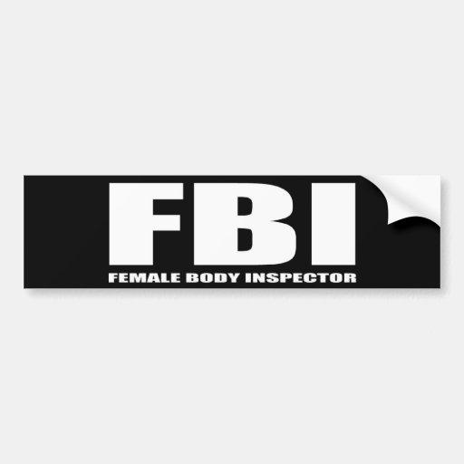 FBI PEGATINA DE PARACHOQUE