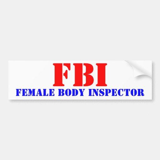 FBI PEGATINA PARA AUTO