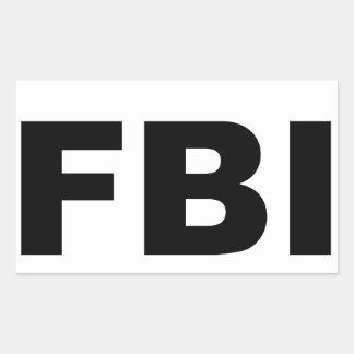 FBI PEGATINA RECTANGULAR