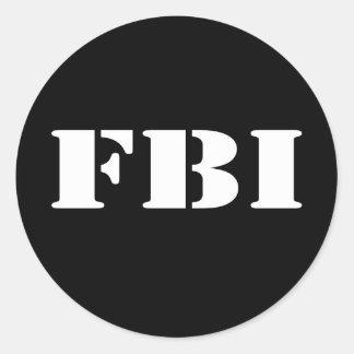 FBI PEGATINA REDONDA