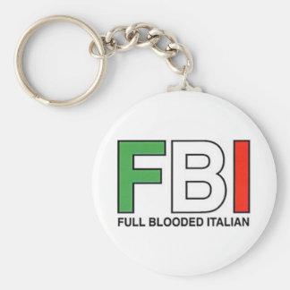 FBI = por completo italiano de Blooded Llavero Redondo Tipo Pin