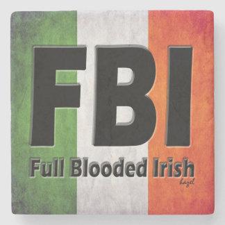 FBI, práctico de costa de mármol irlandés lleno de Posavasos De Piedra