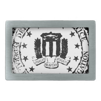 FBI Rubber Stamp Rectangular Belt Buckle