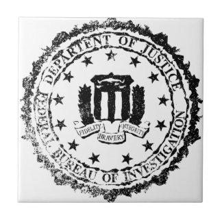 FBI Rubber Stamp Tile