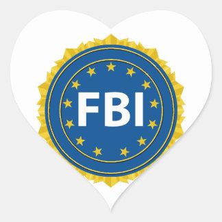 FBI Seal Heart Sticker