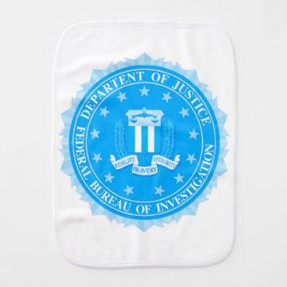 FBI Seal In Blue Baby Burp Cloth