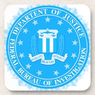 FBI Seal In Blue Beverage Coaster