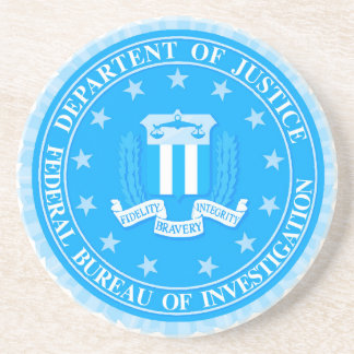 FBI Seal In Blue Sandstone Coaster
