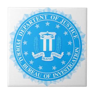 FBI Seal In Blue Tile