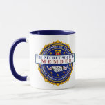 """FBI SECRET SOCIETY COVFEFE MUG<br><div class=""""desc"""">We&#39;ll even give you the password on The back. This group gets together once a month to print phony birth certificates and deliver Clinton Pizzas. Now you can join this special group of people - but remember it&#39;s totally secret. All Republicans know that a nefarious """"secret society"""" in the Federal...</div>"""