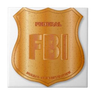 FBI Spoof Shield Badge Ceramic Tile