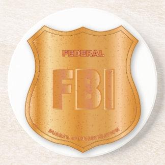 FBI Spoof Shield Badge Coaster