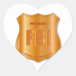 FBI Spoof Shield Badge Heart Sticker