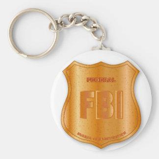FBI Spoof Shield Badge Keychain