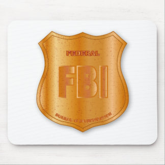 FBI Spoof Shield Badge Mouse Pad
