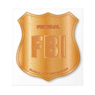 FBI Spoof Shield Badge Notepad