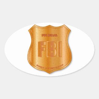 FBI Spoof Shield Badge Oval Sticker