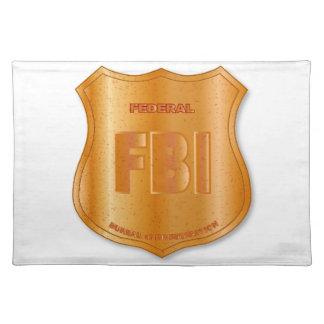 FBI Spoof Shield Badge Placemat
