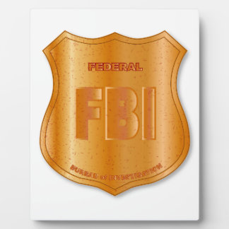 FBI Spoof Shield Badge Plaque