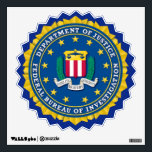 """FBI Wall Decal<br><div class=""""desc"""">This Decorative Star Burst Wall Decal is decorated with Federal bureau of Investigation seal.&quot;Available is three sizes.&quot;</div>"""