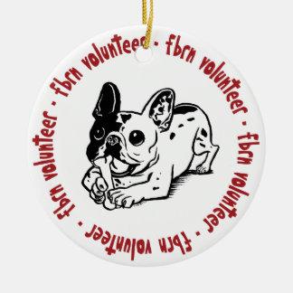 FBRN Volunteer Logo Double-Sided Ceramic Round Christmas Ornament