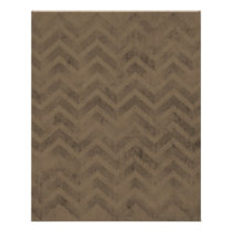 FBZZB FADED CHOCOLATE BROWN ZIG ZAGS ZIGZAG PATTER FLYER