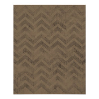 FBZZB FADED CHOCOLATE BROWN ZIG ZAGS ZIGZAG PATTER PERSONALIZED FLYER