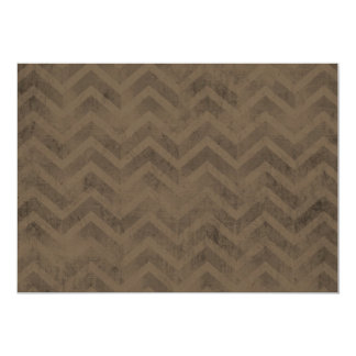 FBZZB FADED CHOCOLATE BROWN ZIG ZAGS ZIGZAG PATTER INVITES