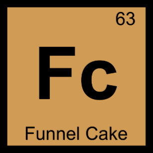 The periodic table of desserts gifts on zazzle fc funnel cake chemistry periodic table symbol t shirt urtaz Images