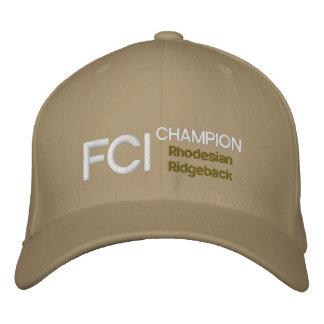 FCI Champion Rhodesian Ridgeback Cap