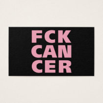 FCK cancer t-shirts Business Card