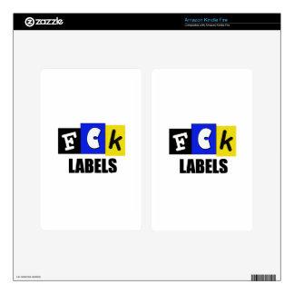 FCK Labels Kindle Fire Skins