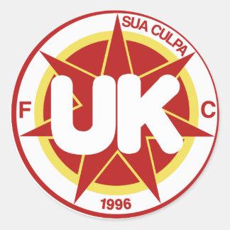 FCRedsticker Classic Round Sticker