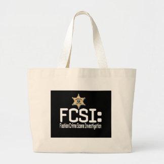 FCSI:  Fashion Crime Scene Investigation Canvas Bag