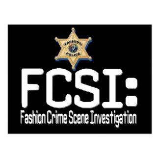 FCSI:  Fashion Crime Scene Investigation Postcard