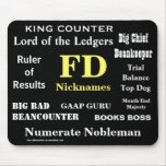 FD Nicknames Funny Finance Director Names Mouse Pad
