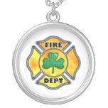 FD Shamrock White Personalized Necklace
