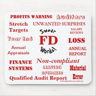 FD Swear Words - Rude Finance Director Mousemat Mouse Pad