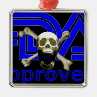 FDA Approved (Black) Metal Ornament
